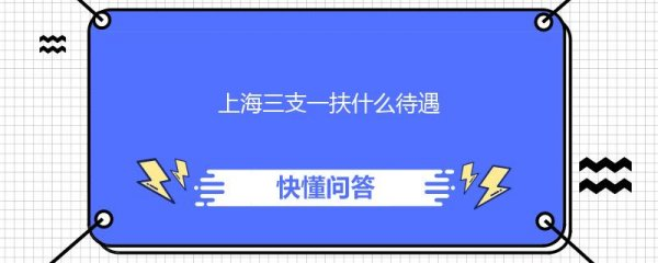 上海三支一扶什么待遇